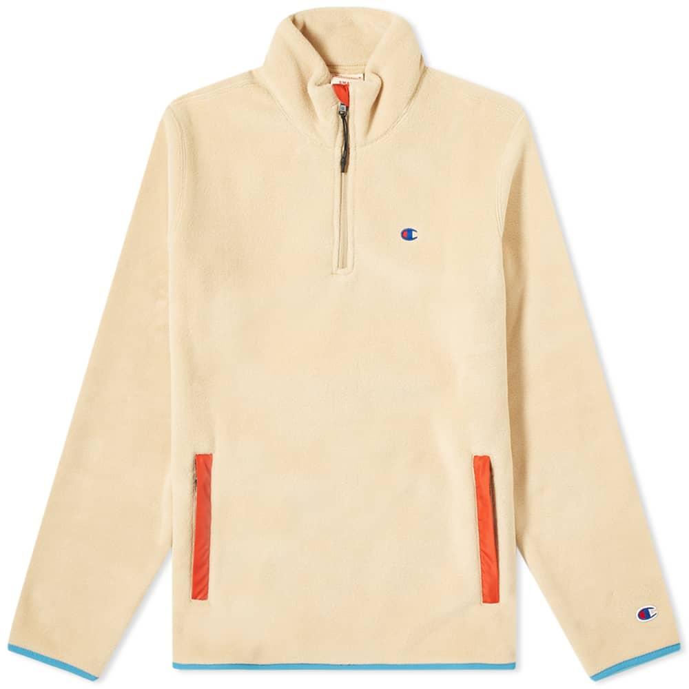 Champion Reverse Weave Polartec Half Zip Sweat - Camel