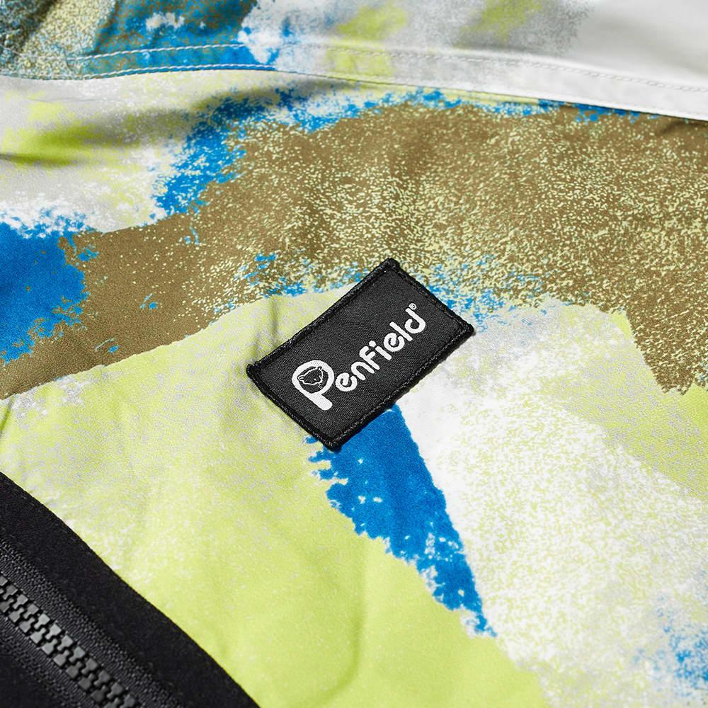 Penfield Bonfield Printed Packable Jacket - Lime