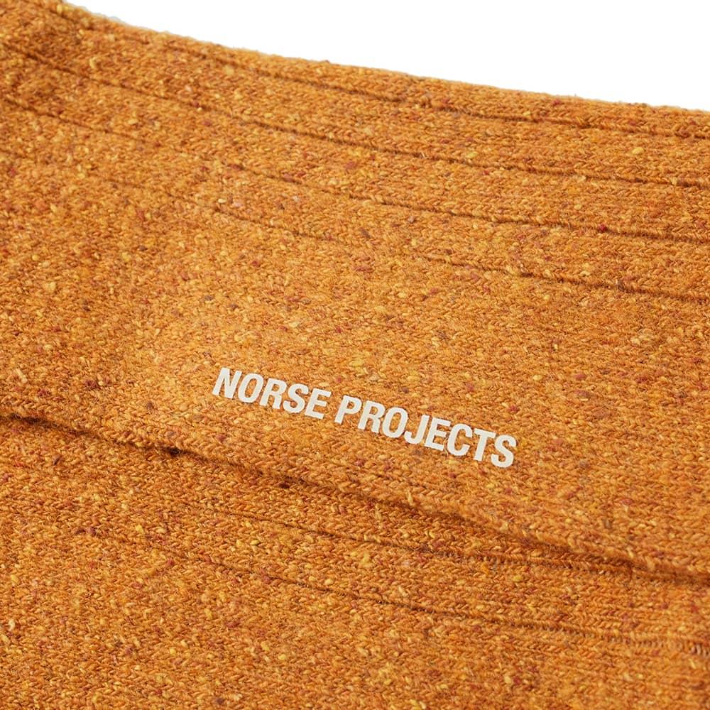 Norse Projects Bjarki Neps Sock - Mustard Yellow