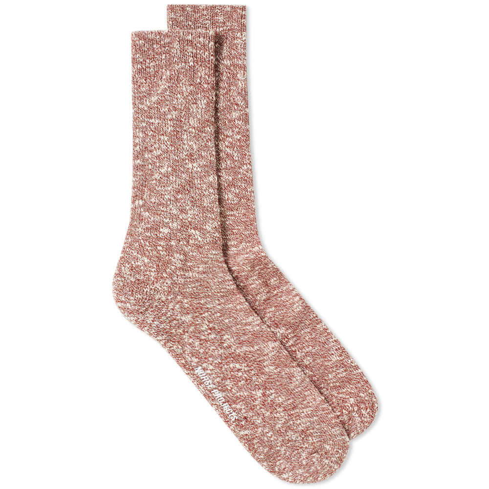 Norse Projects Ebbe Melange Sock - Cabin Red