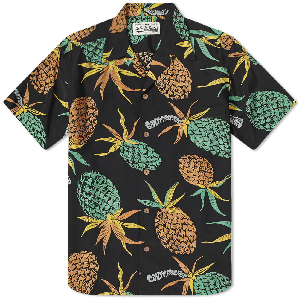 Wacko Maria Pineapple Hawaiian Shirt - Black