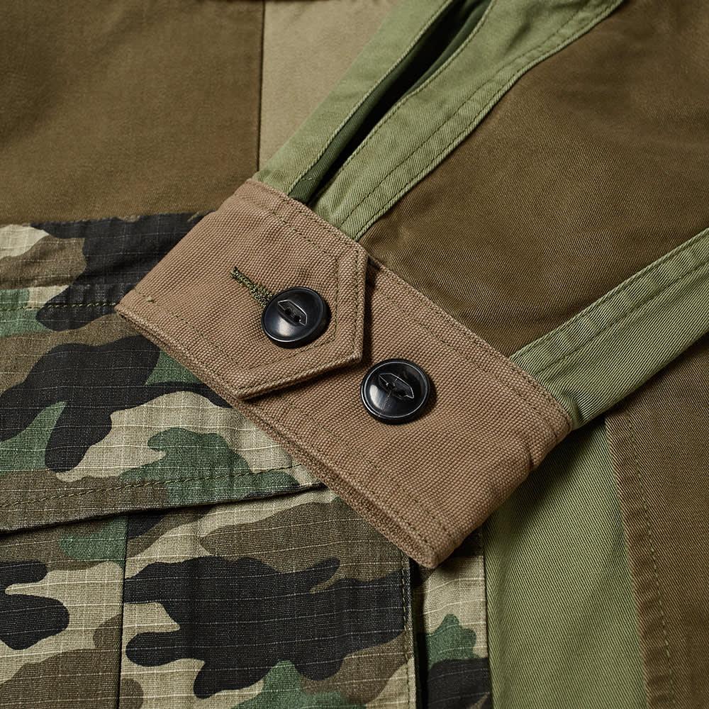 DENHAM Belfield Combat Patchwork Jacket - Ivy Green