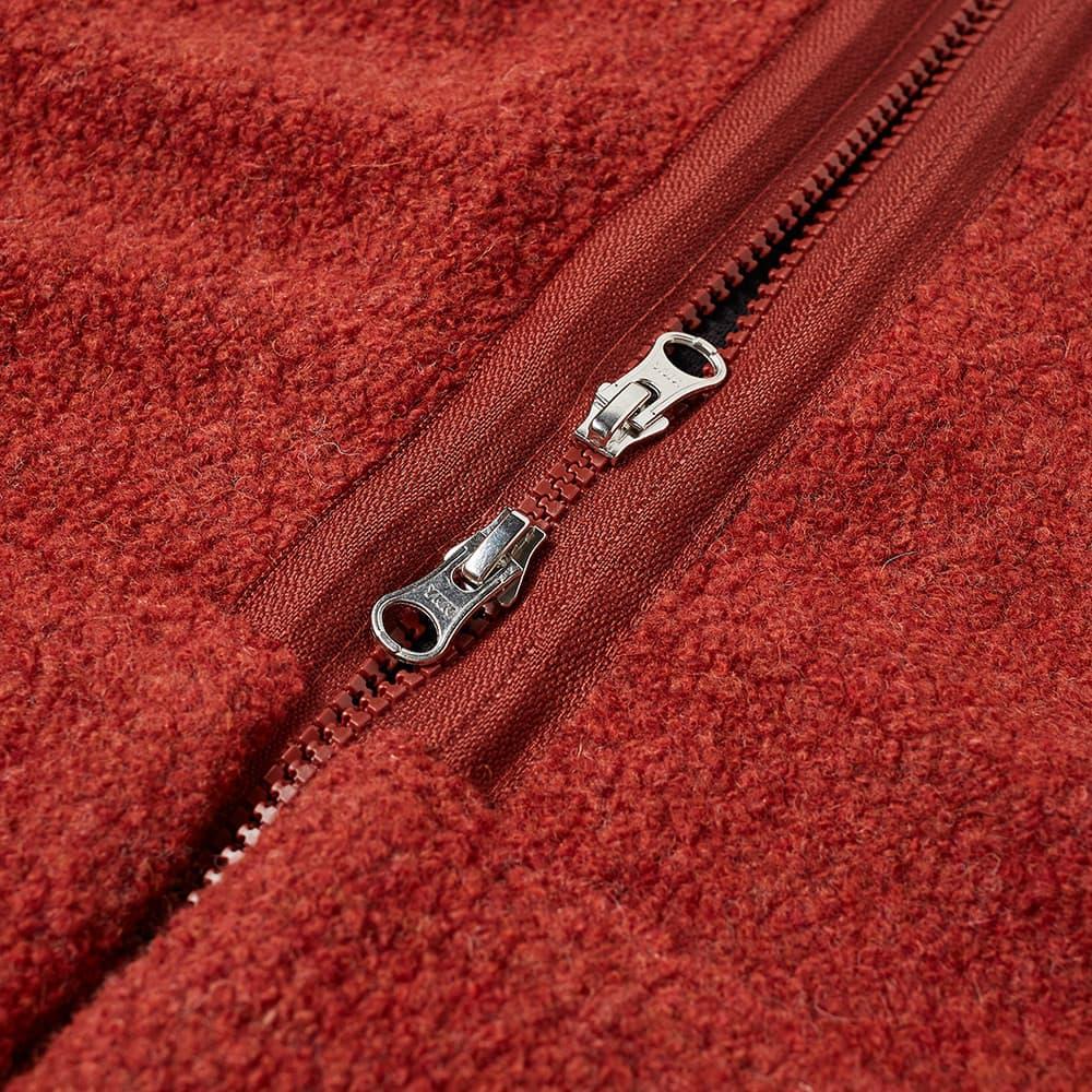 Très Bien Wool Fleece Vest - Rust
