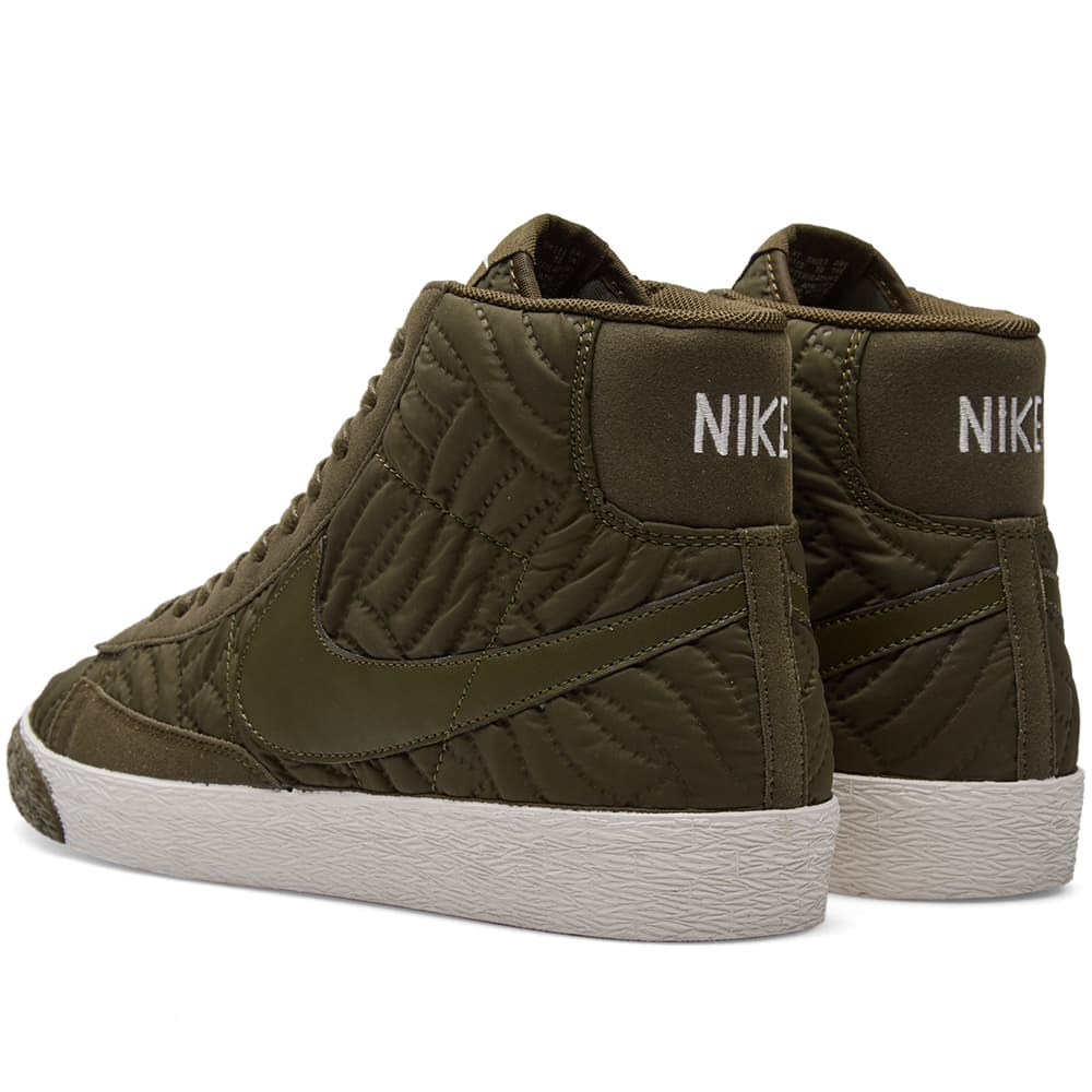 Nike W Blazer Mid Premium SE - Dark Loden & Ivory
