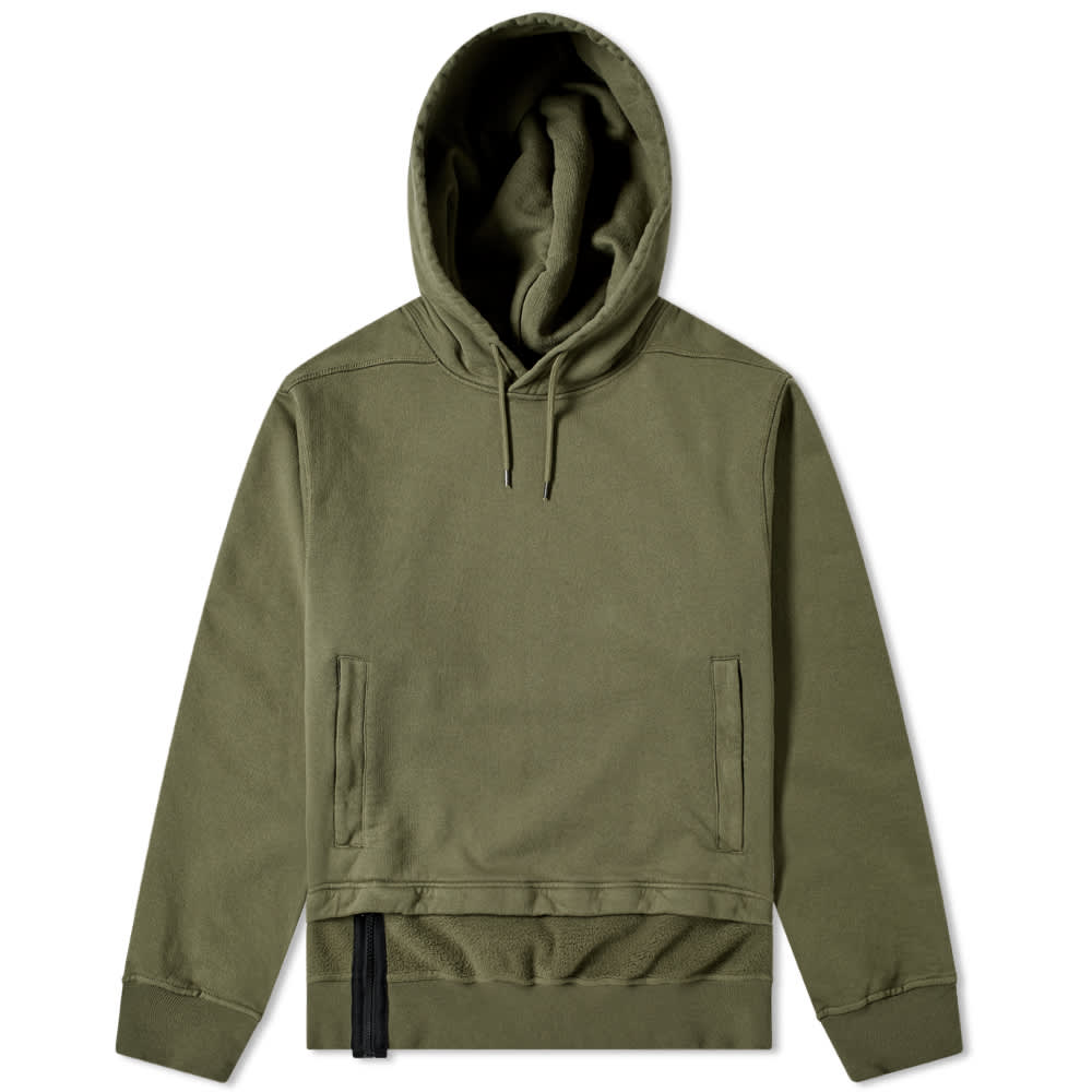 Stone Island Shadow Project Gauzed Heavy Fleece Hoody - Military Green