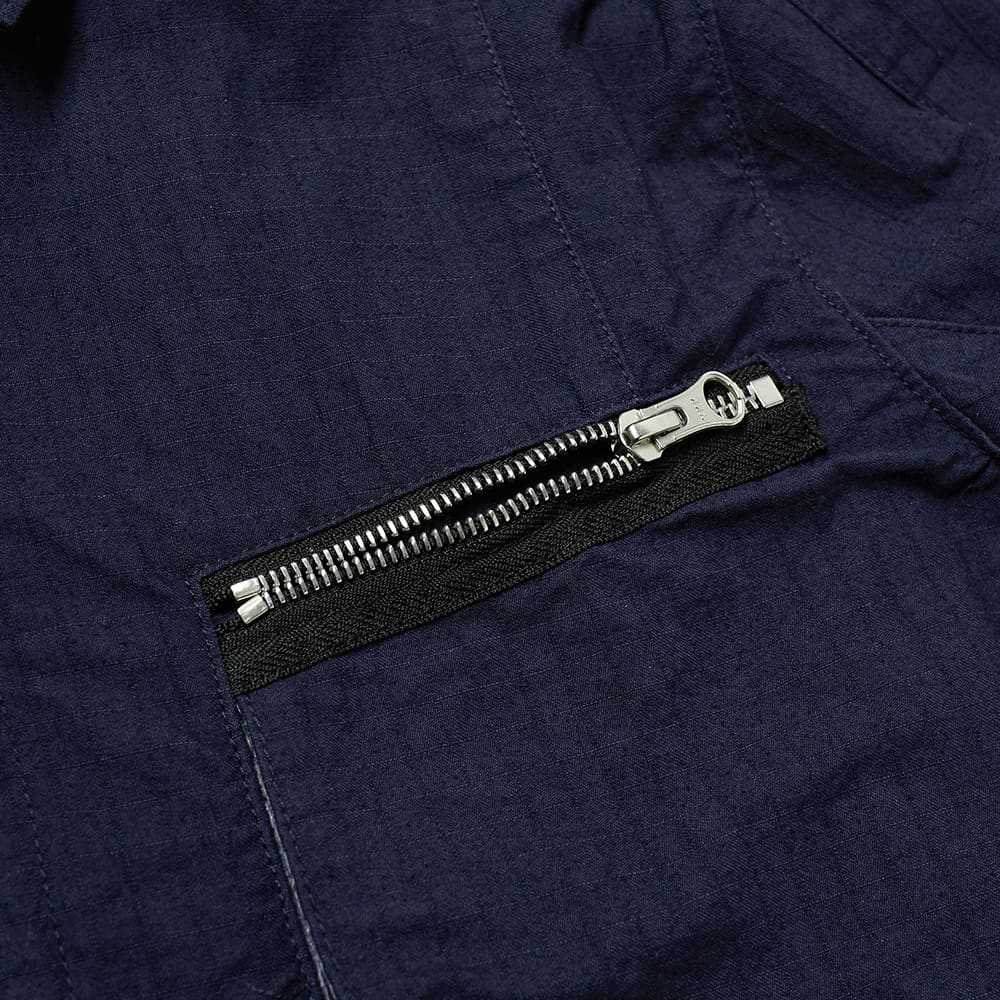 Stone Island Shadow Project Naslan Ripstop Zip Shirt Jacket - Navy
