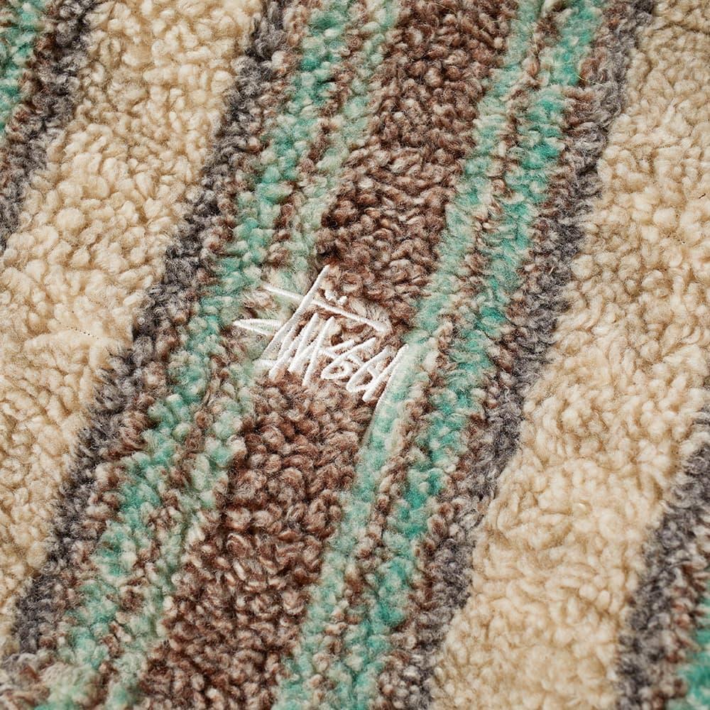 Stussy Stripe Sherpa Hoody - Tan
