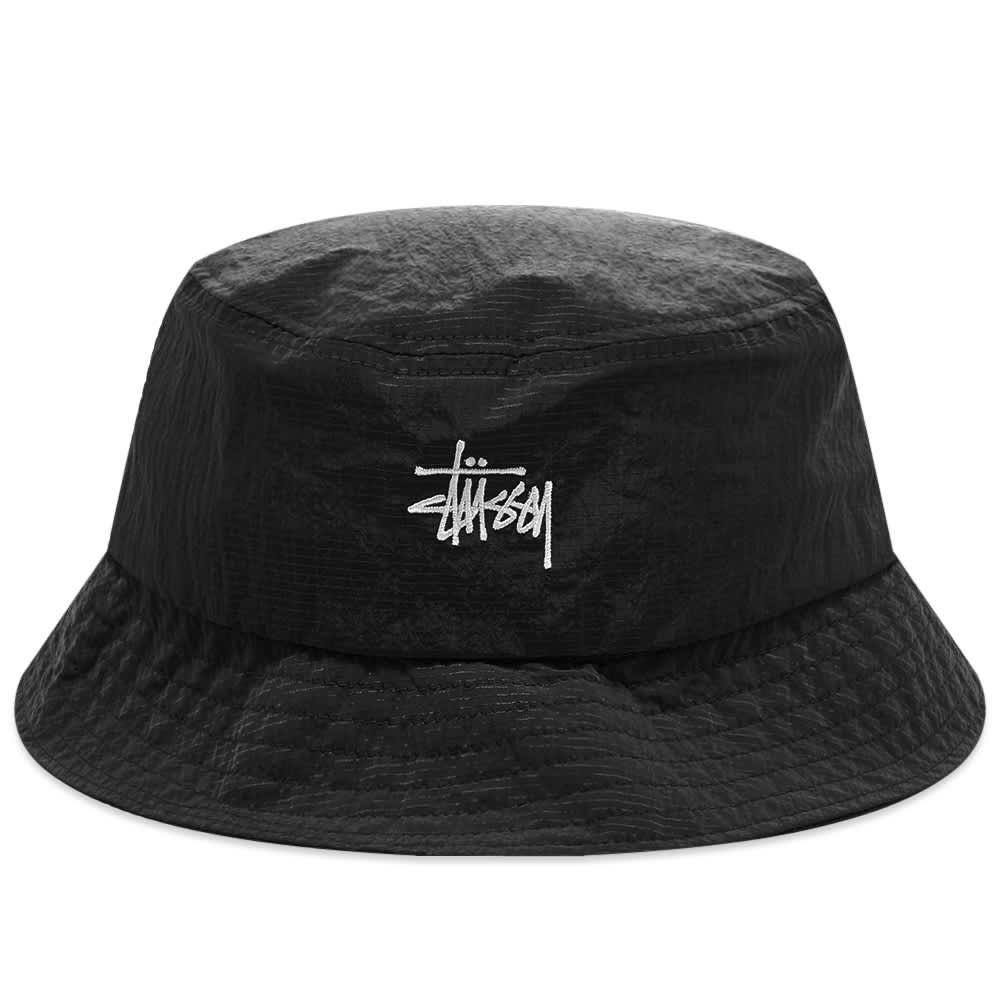 Stussy Metallic Nylon Ripstop Boonie - Black