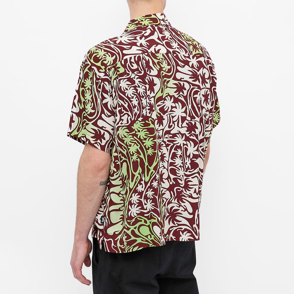 Stussy Psychedelic Palm Tree Shirt - Burgundy