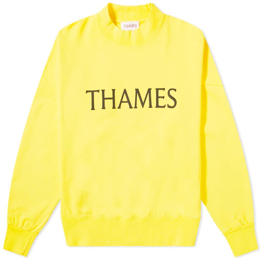 Thames Zamunda Crew Sweat - Yellow