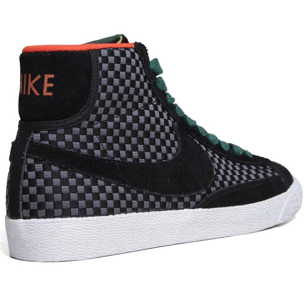 Nike Blazer Mid Woven  - Pre Order - Black & Gorge Green