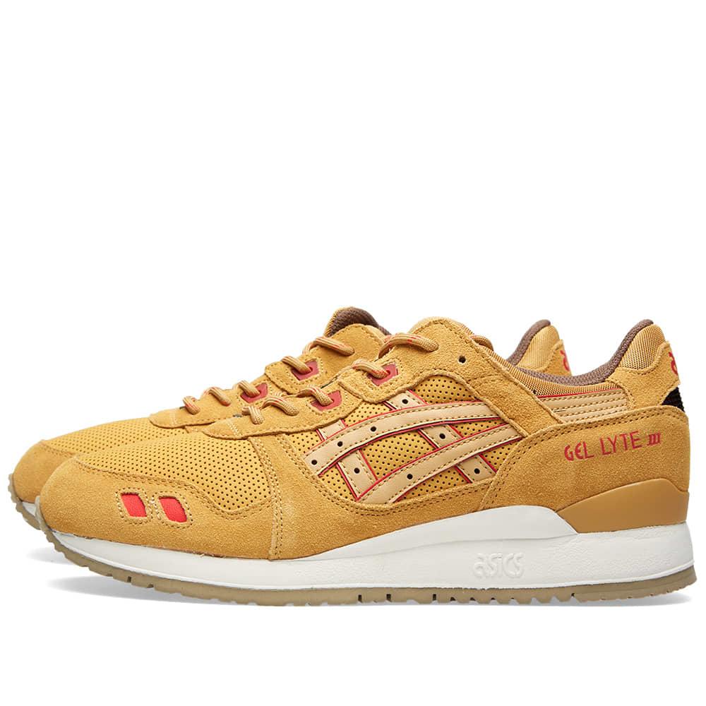 ASICS Tiger Mens Gel Lyte III Suede Athletic Sneakers Orange 8 Medium (D)