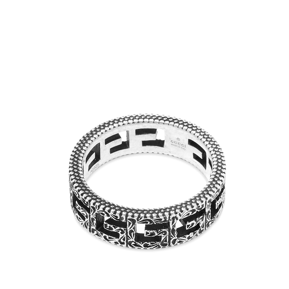 Gucci G Cube Ring - Aged Sterling Silver
