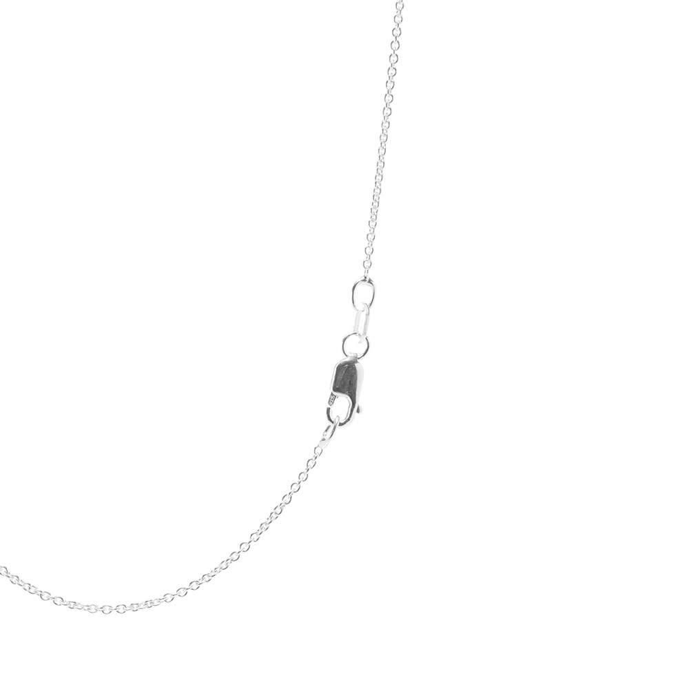 Le Gramme Vintage Rectangle Pendant Necklace - Sterling Silver 3.4g