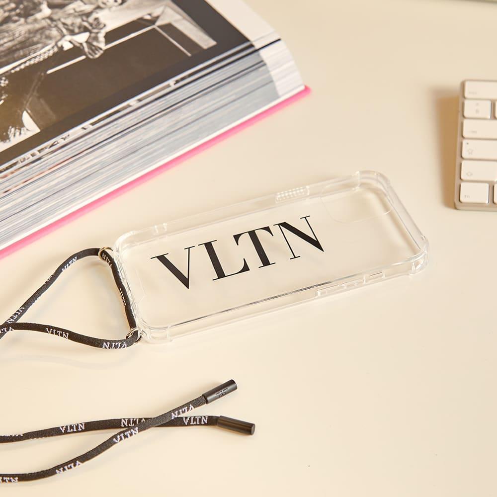 Valentino Neck iPhone Pro Max Cover - Black & Transparent