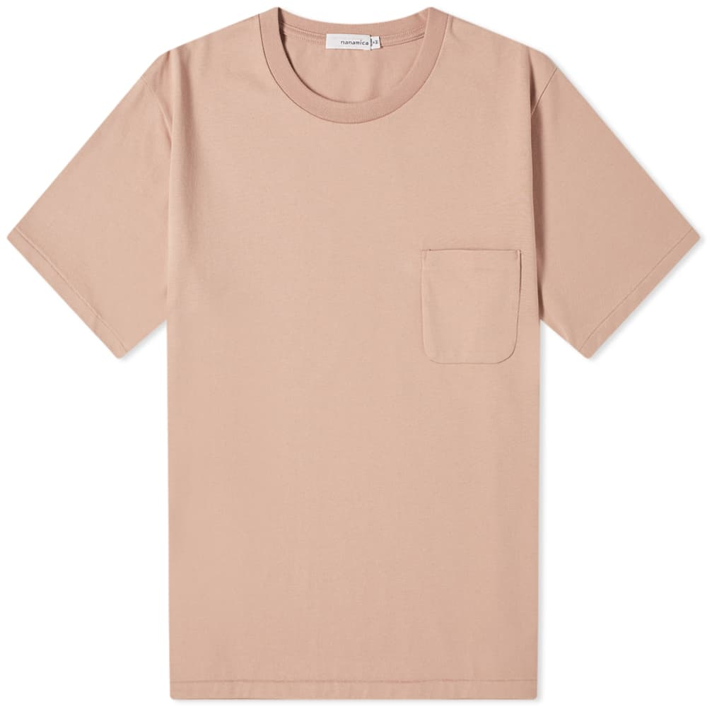 Nanamica Pocket Tee - Light Pink