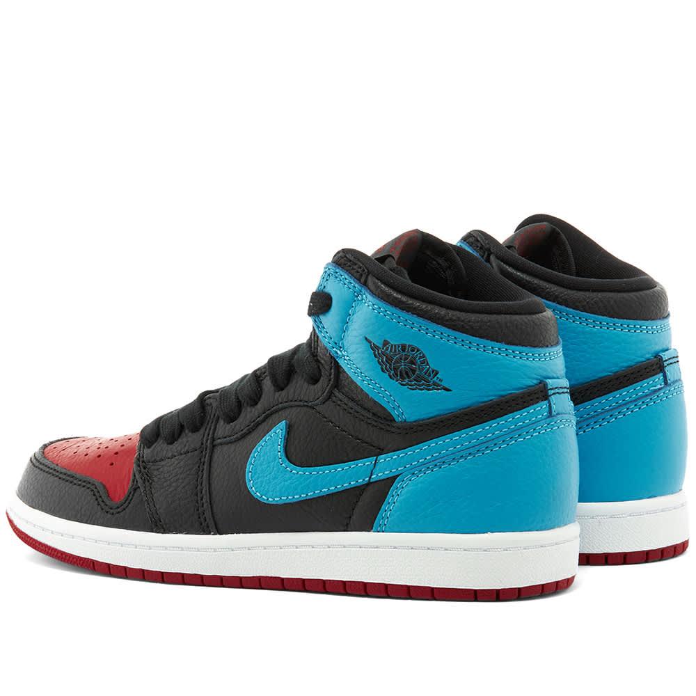 Jordan 1 High Og (ps) black/dk powder blue-varsity red