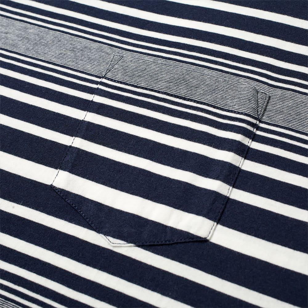 Albam Archive Stripe Tee - Navy & White