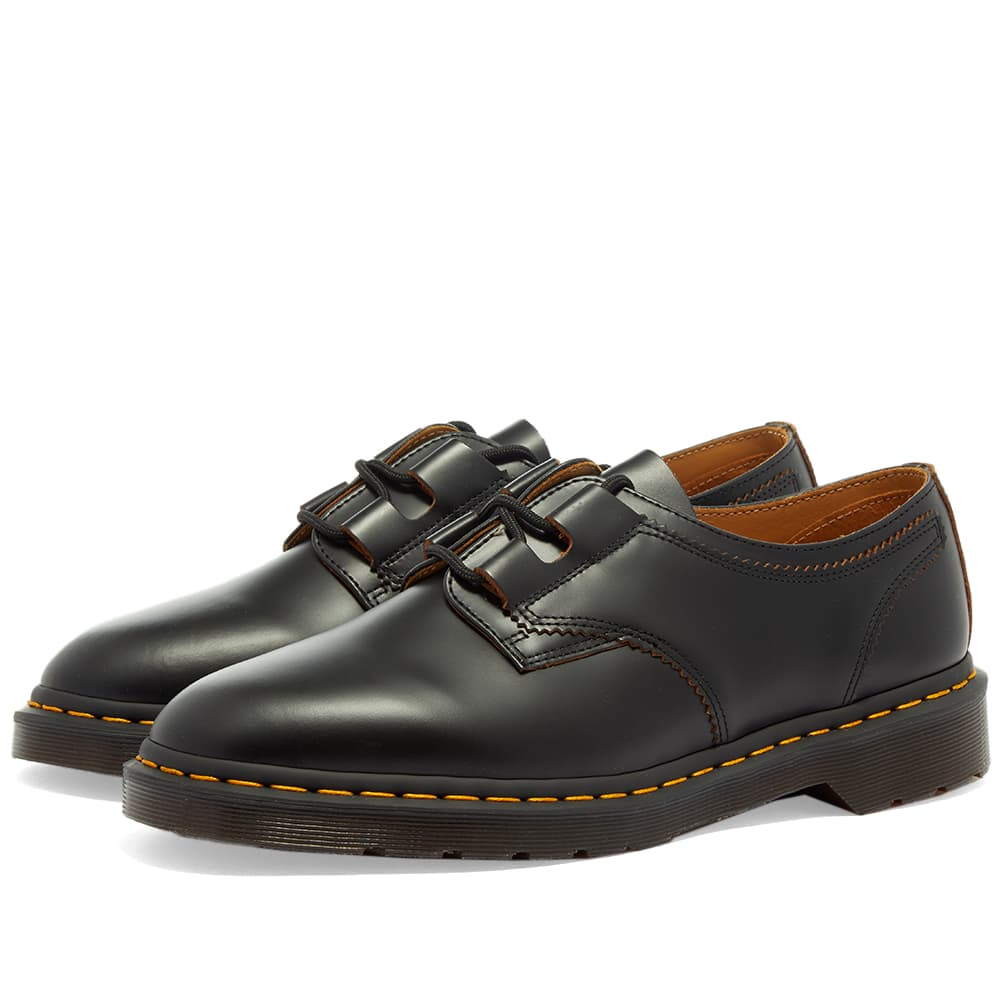 Dr. Martens 1461 Ghillie Shoe - Black Vintage Smooth