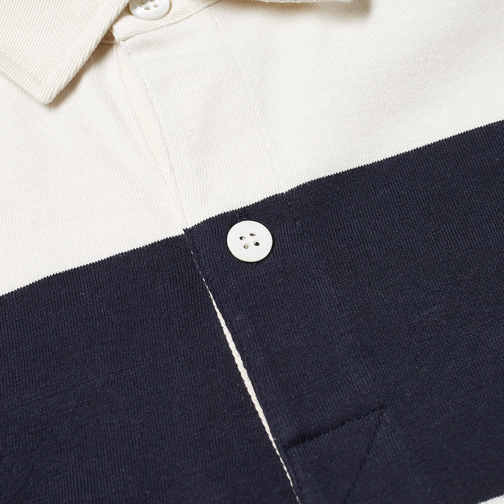 AMI Stripe Rugby Shirt - Navy & Off White