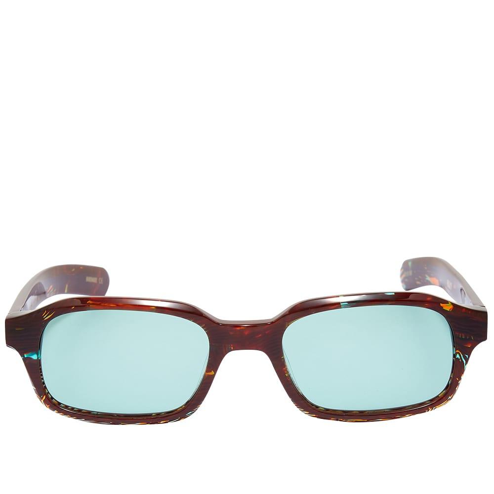 Flatlist Hanky Sunglasses - Dizzying Tortoise & Teal