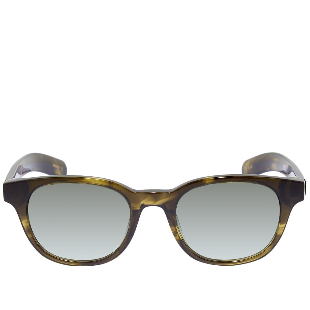 Flatlist Logic Sunglasses - Olive Horn & Olive Gradient