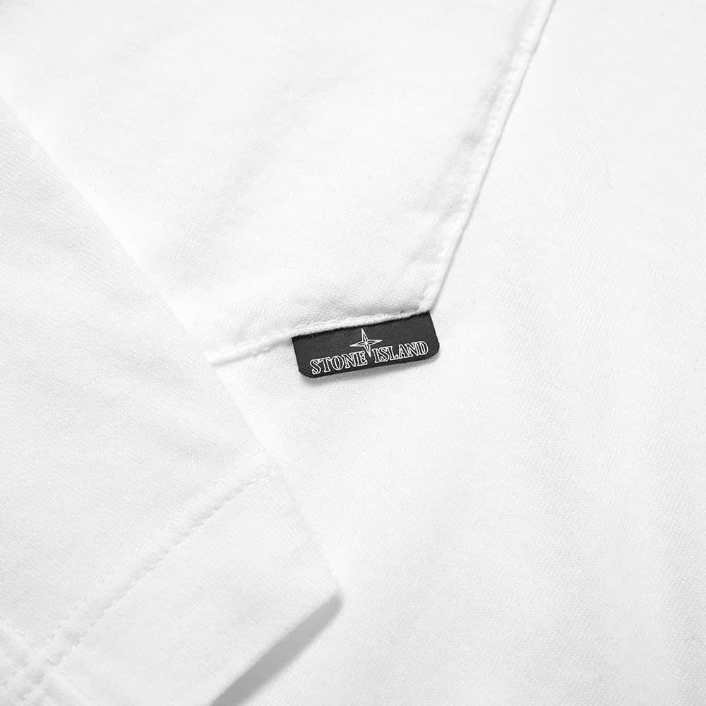 Stone Island Shadow Project Long Sleeve Printed Pocket Tee - White