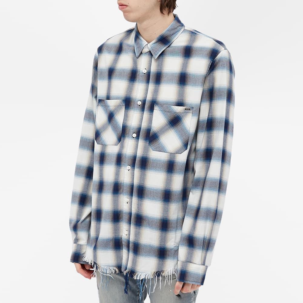 AMIRI Logo Flannel Shirt - Navy