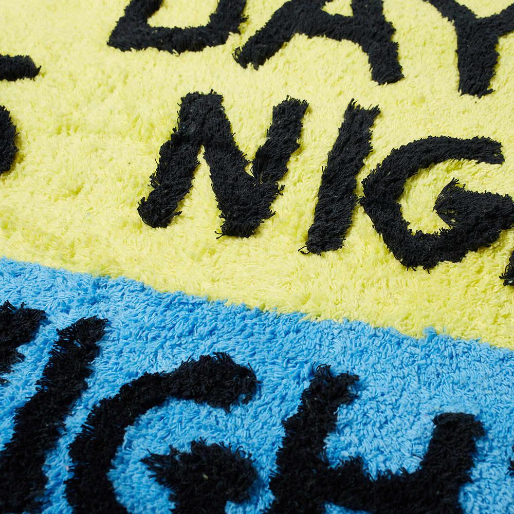 David Shrigley Day Is Night Shaggy Floor Mat - 70cm