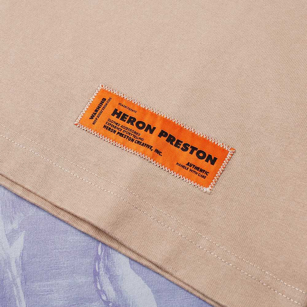 Heron Preston Herons Litho Oversized Tee - Taupe