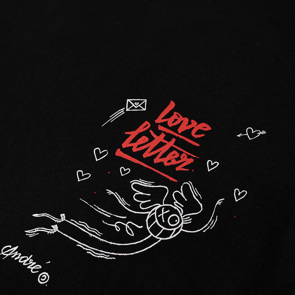 Soulland X Mr. Andre Long Sleeve Pepe Love Letter Tee - Black