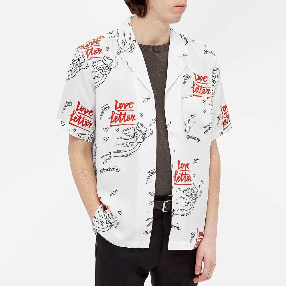 Soulland X Mr. Andre Short Sleeve Orson Love Letter Shirt - White