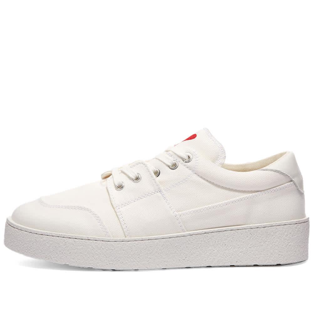 AMI Heart Logo Sneaker - White