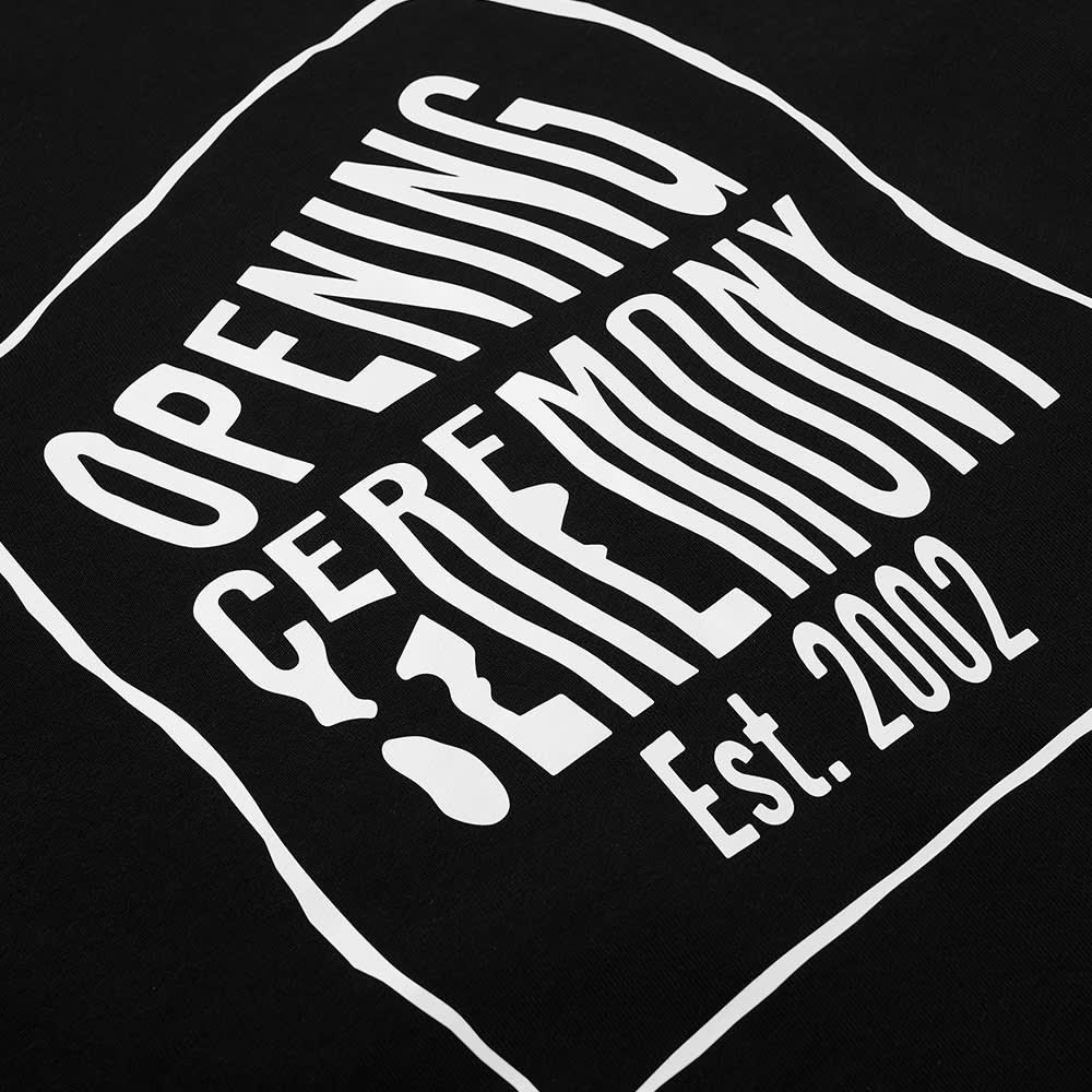Opening Ceremony Warped Logo Crew Sweat - Black & White