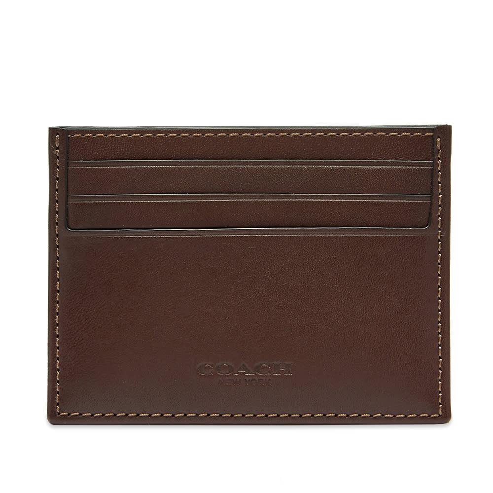 Coach Signature Jacquard Card Case - Oak