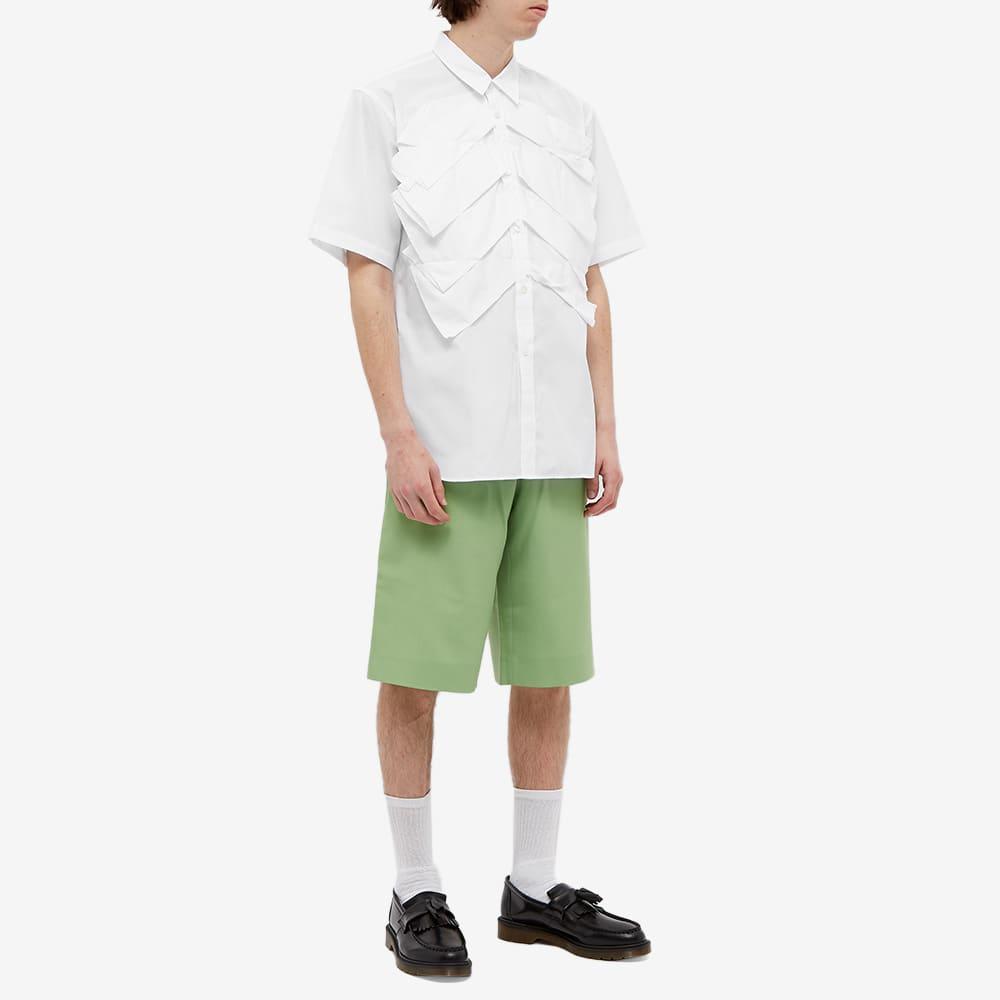 Comme des Garcons Homme Plus Short Sleeve Overlayed Pleats Shirt - White