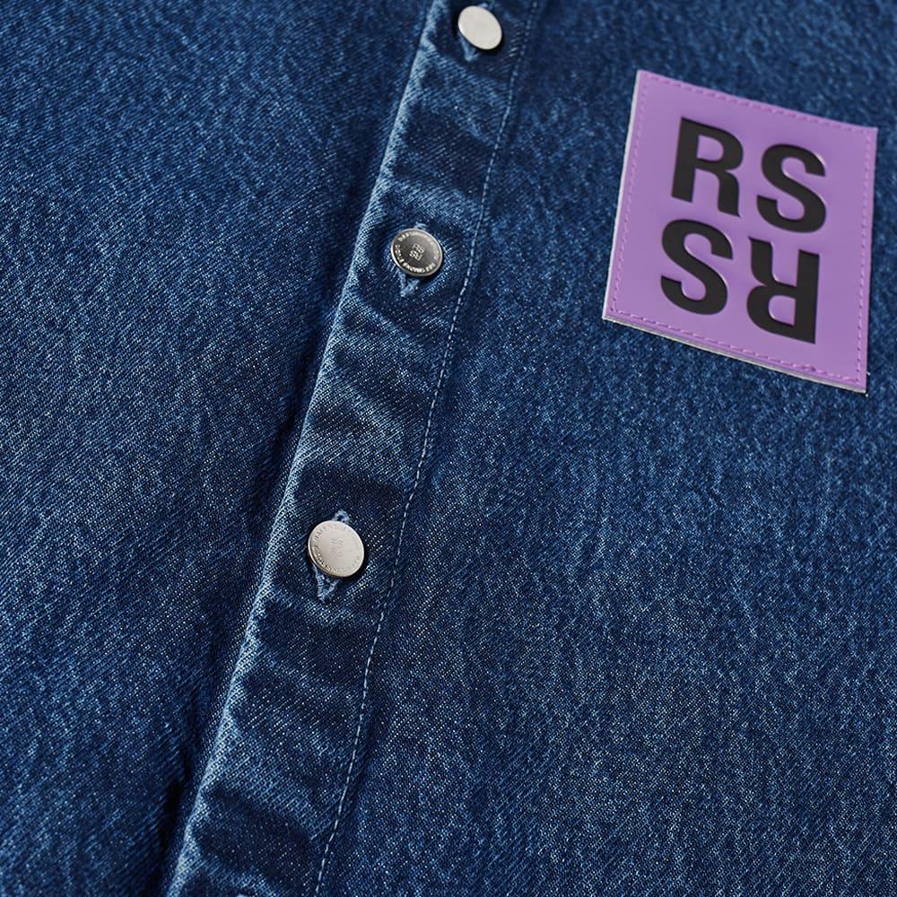 Raf Simons Straight Fit Denim Overshirt - Navy