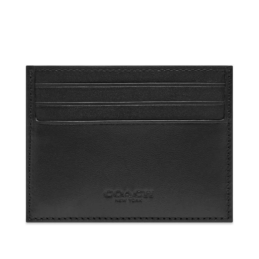 Coach Signature Jacquard Card Case - Smoke & Black