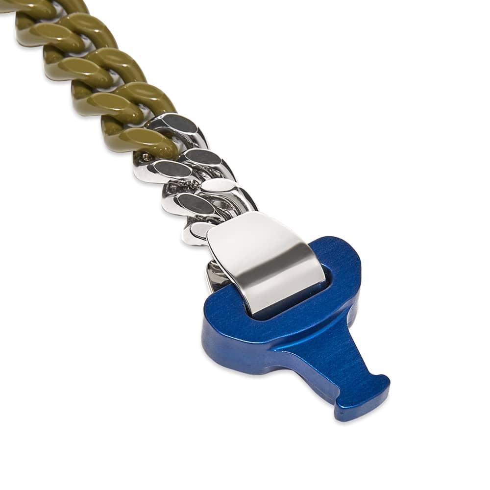 END. x 1017 Alyx 9SM Blue Buckle Bracelet - Silver