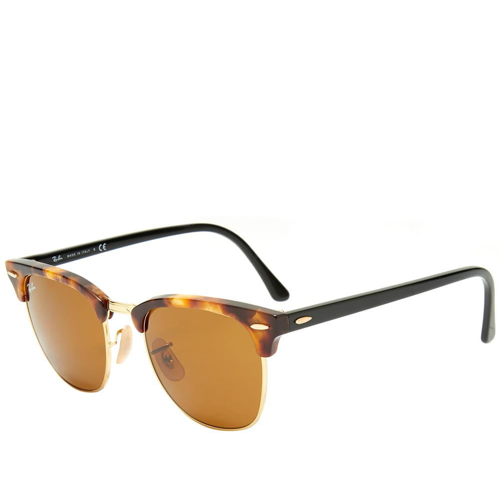Ray Ban Clubmaster Sunglasses - Spotted Brown Havana & Brown