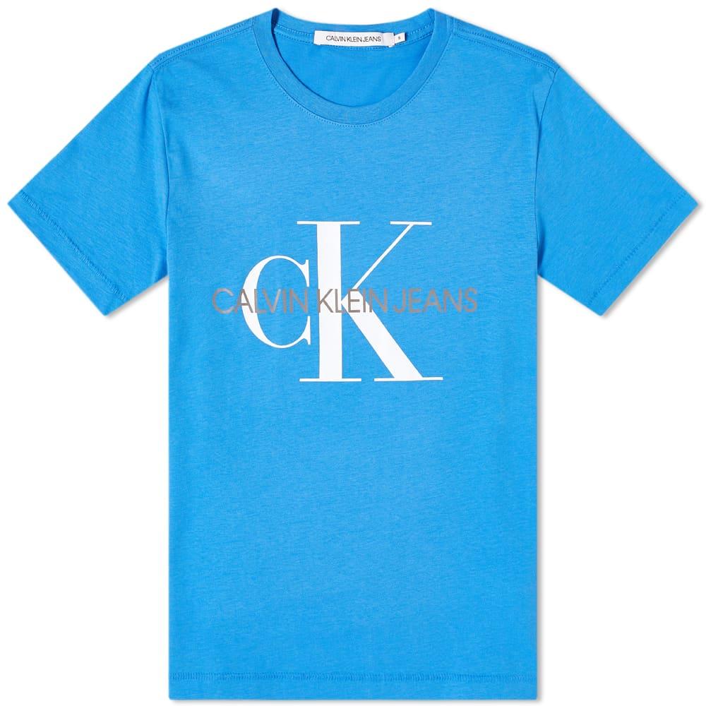 Calvin Klein Seasonal Monogram Tee - Mesmerizing Blue