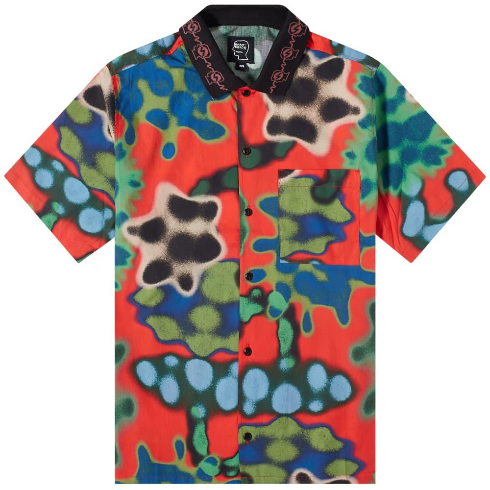 Brain Dead Amoeba Watercolor Short Sleeve Shirt - Red
