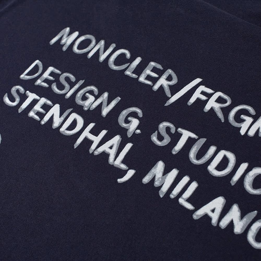 7 Moncler FRGMT Hiroshi Fujiwara Studio Logo Tee - Blue & Navy