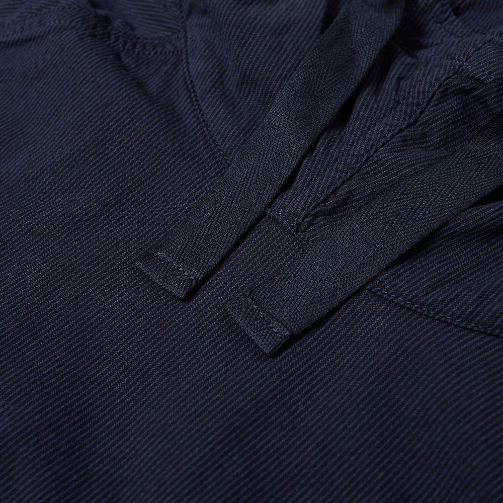 Albam Summerisle Seersucker Popover Jacket - Navy Seersucker