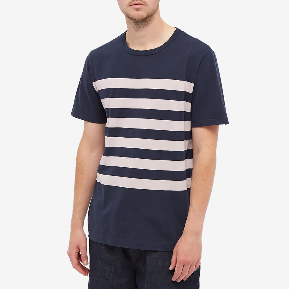 Albam Summerisle Stripe Tee - Navy & Pink