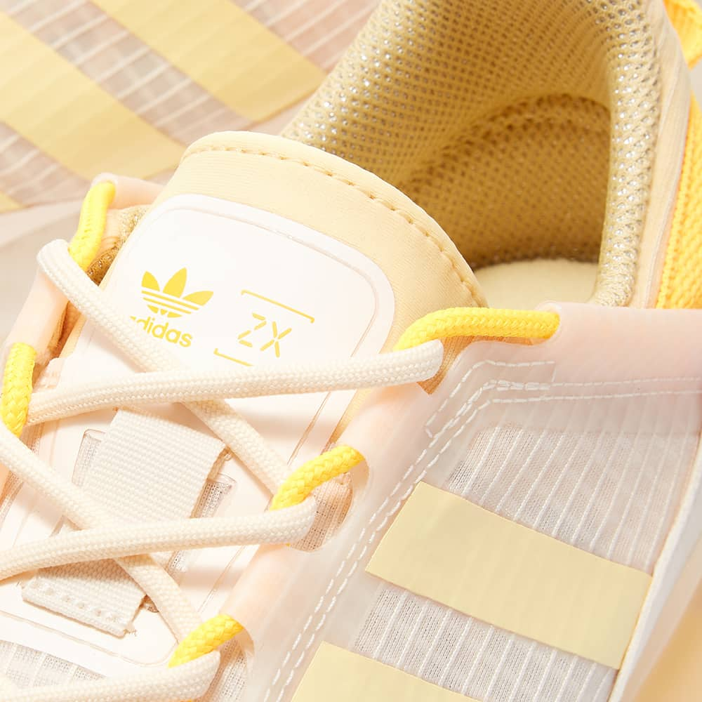 Adidas Zx 2K Boost Pure W - Wonder White, Orange & Gold