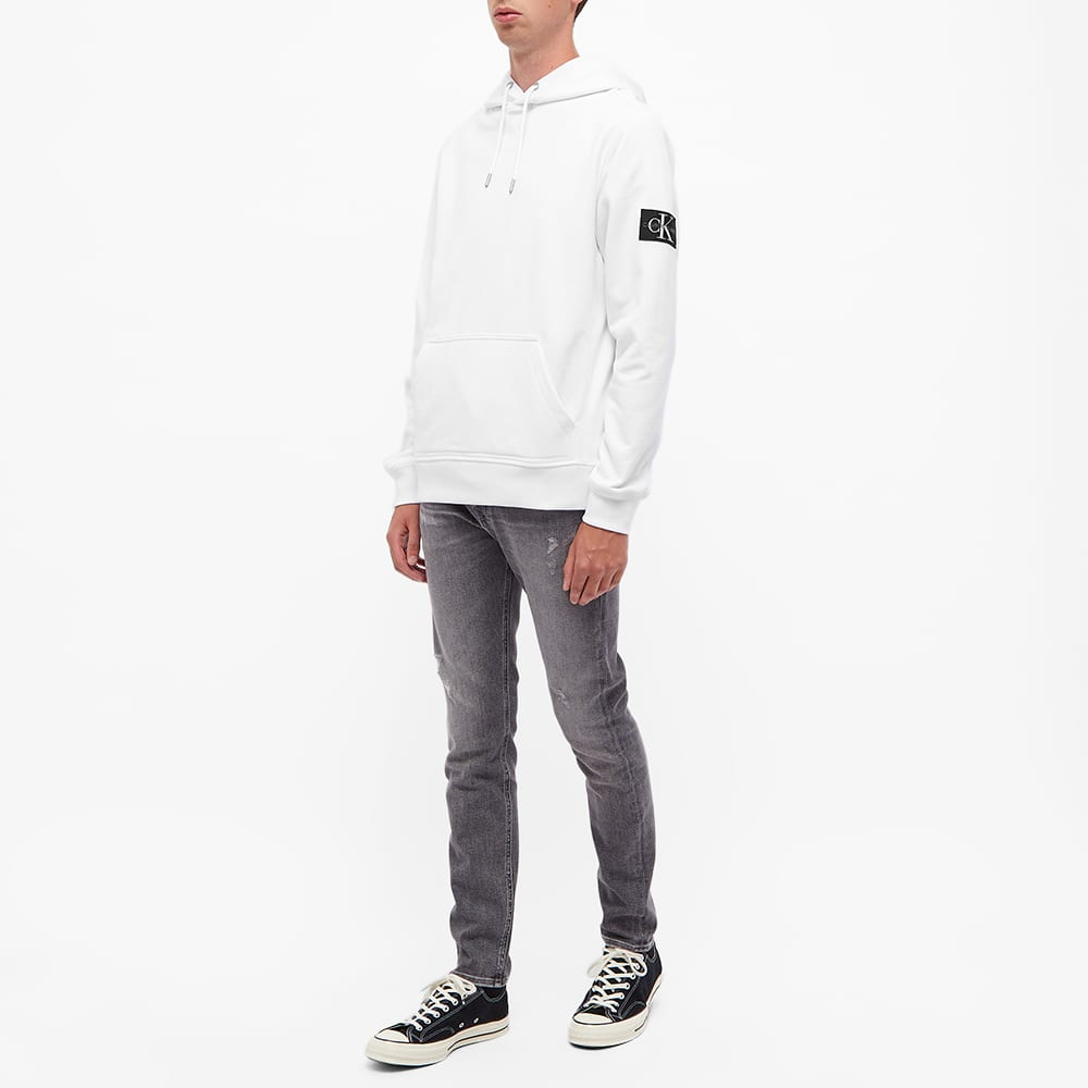 Calvin Klein Monogram Sleeve Badge Hoody - White