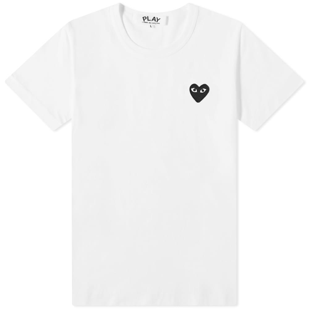 Comme des Garcons Play Women's Basic Logo Tee - White & Black