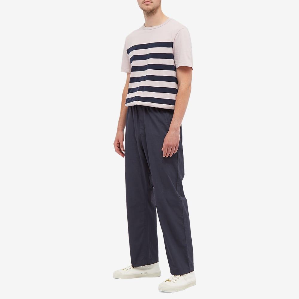 Albam Summerisle Stripe Tee - Pink & Navy