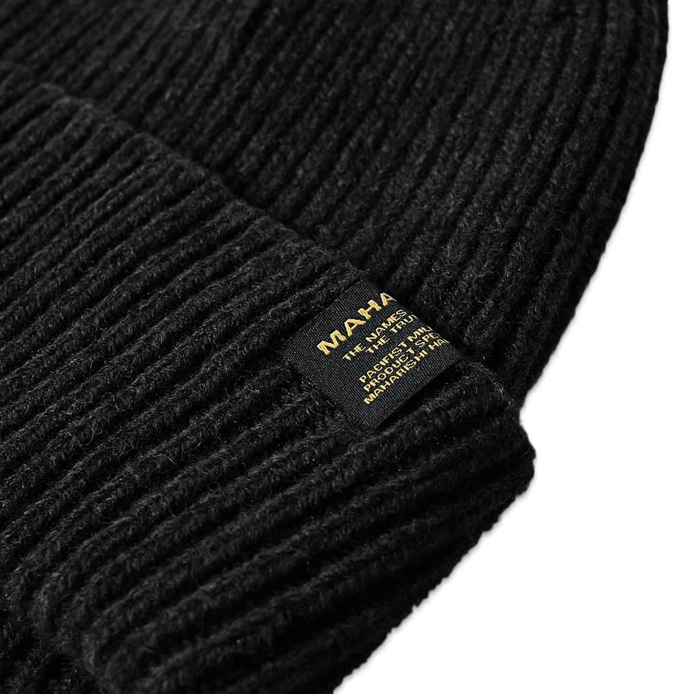 Maharishi Wool Beanie - Made In Scotland - Black